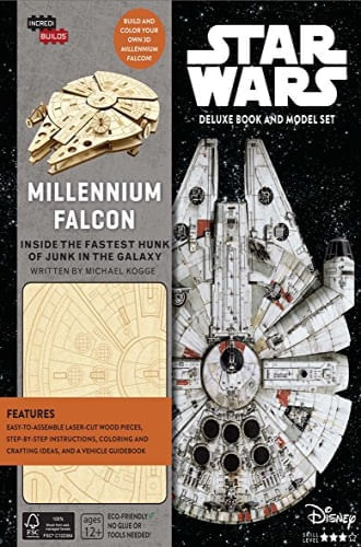 INCREDIBUILDS: STAR WARS: MILLENNIUM FALCON DELUXE BOOK AND