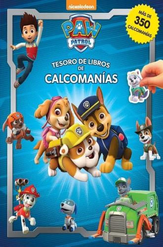 PAW PATROL TESORO DE LIBROS DE CALCOMANIAS