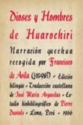 DIOSES Y HOMBRES DE HUAROCHIRI