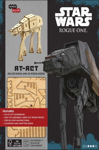 INCREDIBUILDS: STAR WARS: ROGUE ONE: AT-ACT DELUXE BOOK AND
